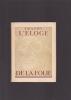 ELOGE DE LA FOLIE Traduction de Victor Develay. ERASME