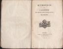 MEMOIRES de L'ACADEMIE des sciences, arts et belles-lettres de DIJON.