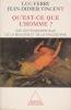 QU'EST-CE QUE L'HOMME ? sur les fondamentaux de la biologie et de la philosophie. FERRY Luc & VINCENT Jean-Didier