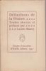 DEFINITIONS DE LA FRANCE. (MAURY Lucien) Textes choisis et préfacés par
