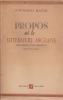 PROPOS sur la littérature anglaise (Reading for profit) Traduit de l'anglais. BELGION Montgomery