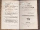 Résumé de l'histoire D'ANGLETERRE seconde édition corrigée. BODIN Félix