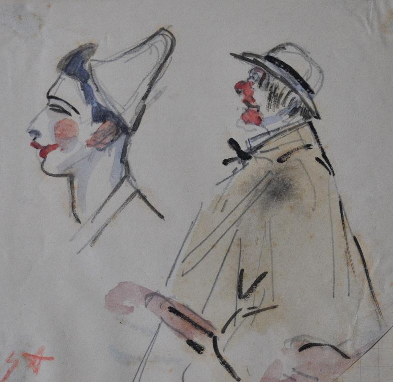 Album de dessins. ASSIRE (Gustave).