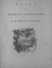 Essay on Modern Gardening.- Essai sur l'art des jardins modernes. Par M. Horace Walpole, traduit en français par M. le Duc de Nivernois, en ...