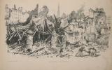 1870. Siège et bombardement de Strasbourg. Album de 25 dessins par Touchemolin d'après les photographies de Baudelaire, Saglio et Peter.. STRASBOURG - ...