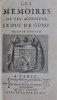 Les Mémoires de feu Monsieur le Duc de Guise. Seconde édition.. GUISE (Henri II de Lorraine, duc de). - [GOIBAUD (Philippe, sieur Du Bois)].