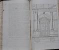 De l'ornement de l'architecture. MANUSCRIT AUTOGRAPHE (fin XVIIe siècle) de 195 pages in-folio relié en veau brun marbré, dos orné, tranches marbrées ...