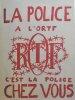 La police à l'ORTF c'est la police chez vous.. [MAI 68] ATELIER POPULAIRE DES BEAUX-ARTS.