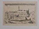 La Besle petite ville de grande antiquité. Estampe originale. [RHÔNE L'ARBESLE] - CHASTILLON (Claude).
