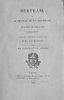 Bertram, ou le château de St-Aldobrand, Tragédie en cinq actes. Traduite librement de l'anglois du Rev. R.C. Maturin par MM. Taylor et Ch. Nodier.. [ ...