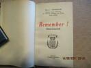 Remember ! (Souviens-toi). . JOANNON (Henri)