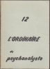 L'Ordinaire du Psychanalyste. N° 12. Avril 1978. Collectif.