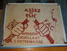 "AFFICHE ORIGINALE - MAI 68 - ""ASSEZ DE FLIC"". X"
