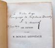 Les Satires, réimprimées conformément à l'édition de 1701 Dite édition favorite. Introduction et Notes de F. De Marescot.. BOILEAU DESPREAUX, Nicolas