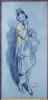Femme à l'étole.. ABLETT, William Albert (1877-1937)