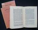 Les Métamorphoses - Livres I à XI - texte et traduction - . APULEE -