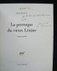 La perruque du vieux Lénine - tragi-comédie - . RISTAT (Jean) - (Michel Leiris) -