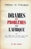Revue DÉFENSE DE L'OCCIDENT : Drames et problèmes de l'Afrique.. COLLECTIF