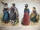 Gravure de costumes historiques du moyen-âge en couleurs. Nr.513. ANONYME