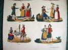 Gravure de costumes suisses.. ANONYME