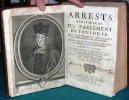 Arrests remarquables du Parlement de Toulouse. 2 volumes.. CATELLAN Jean de