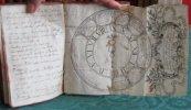 """Manuscrit du XVIIIe siècle. """"Pensées"""".. ANONYME"""
