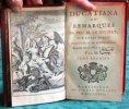 Ducatiana ou Remarques de feu M. Le Duchat, sur divers sujets d'Histoire et de Littérature.. LE DUCHAT Jacob - FORMEY Jean Henri Samuel