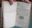 Histoire Naturelle - Table des Matières. BUFFON Georges Louis Leclerc de
