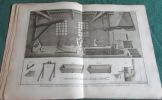 Encyclopédie Diderot et D'Alembert. Recueil de 12 planches de Laminage du plomb.. DIDEROT - D'ALEMBERT