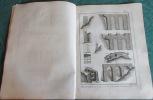 Encyclopédie Diderot et D'Alembert - Recueil de 11 planches de Maçonnerie. DIDEROT - D'ALEMBERT