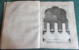 Encyclopédie Diderot et D'Alembert - Recueil de 22 planches de Menuisier en Bâtiment. DIDEROT - D'ALEMBERT