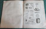 Encyclopédie Diderot et D'Alembert - Recueil de 8 planches de Miroitier.. DIDEROT - D'ALEMBERT