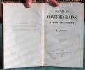 Souvenirs contemporains d'histoire et de littérature - Tome 1.. VILLEMAIN Abel-François