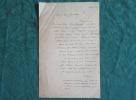 Lettre Autographe Signée de Pierre-Jules Hetzel.. STAHL Pierre Jules (Hetzel)