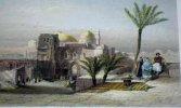 Gravure. Extérieur du Saint-Sépulcre - Israël.. ROUARGUE scult.