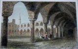 Gravure. Syrie moderne - Cloître à St. Jean d'Acre.. LEMAITRE direxit