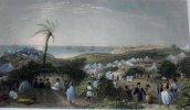 Gravure. Encampment of Ibrahim Pasha, near Jaffa.. W.H. BARTLETT - S. FISHER