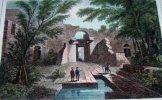 Gravure. Vue de Naplouse sur l'emplacement de l'ancienne Sichem.. LEMAITRE direxit - CASSAS