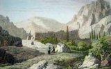 Gravure. Mont-Sinaï - Couvent de Ste. Catherine.. CHOLLET sc - FLEURY del.