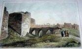Gravure. Syrie moderne - Murs de Bostra.. LEMAITRE direxit