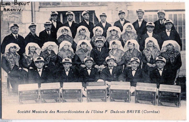 BRIVE - SOCIETE MUSICALE DES ACCORDEONISTES DE L'USINE F. DEDENIS . Corrèze
