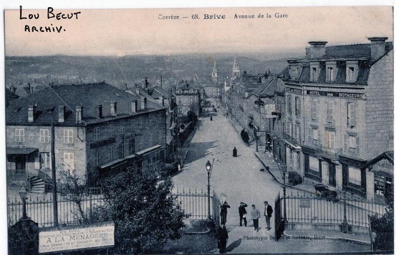 BRIVE , AVENUE DE LA GARE. Corrèze