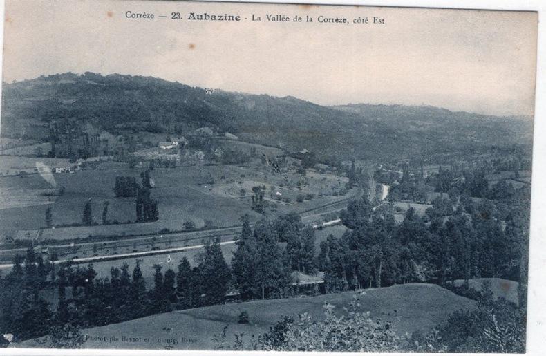 AUBAZINE - LA VALLÉE DE LA CORRÈZE , COTE EST. CORRÈZE