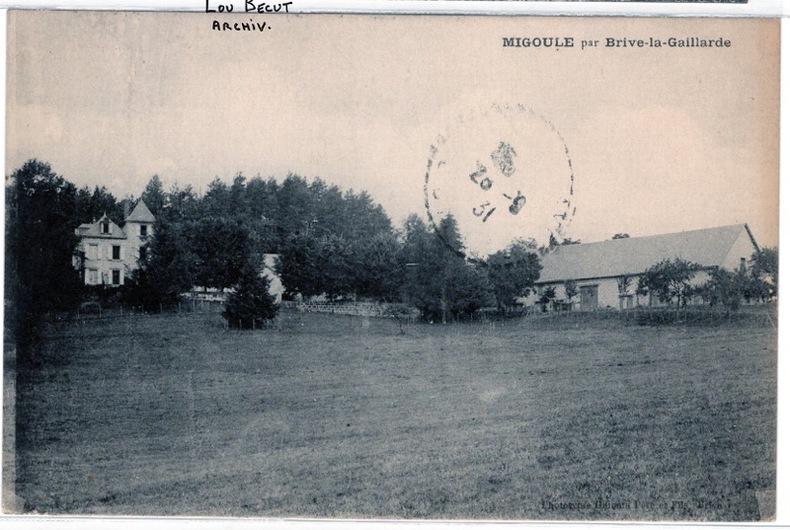 MIGOULE ,PAR BRIVE LA GAILLARDE , 1931. Corrèze