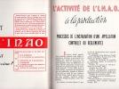 L'OEUVRE DE L'INSTITUT NATIONAL DES APPELLATIONS D'ORIGINES DES VINS ET EAUX-DE-VIE .. I.N.A.O.
