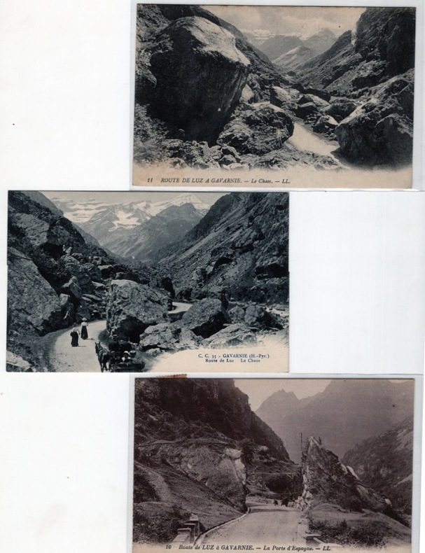 Route de Luz à Gavarnie .. Lévy et Neurdein , Carrache