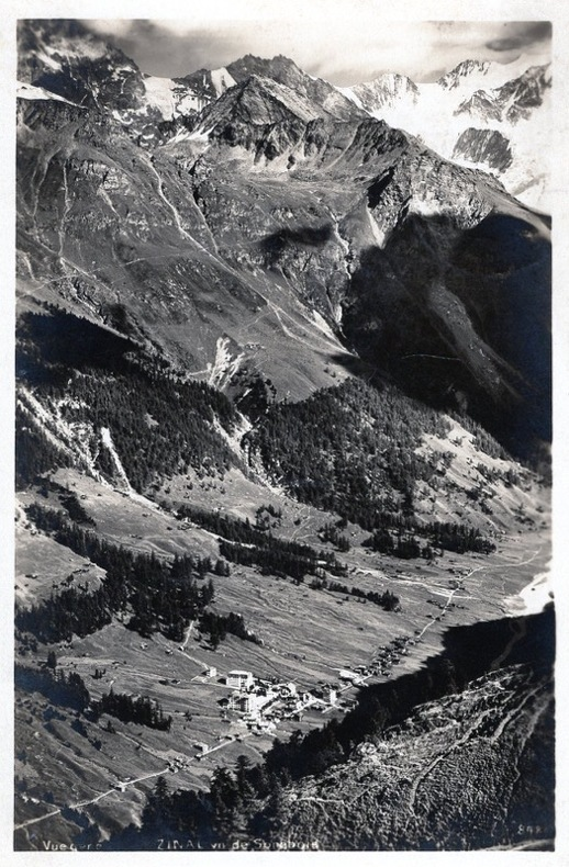 Zinal , .vue de Sorebois.. Suisse