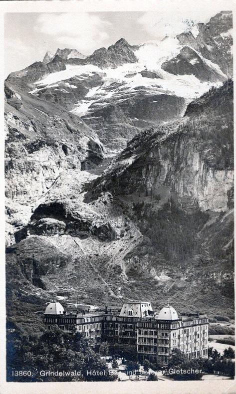 Grindelwald , Hotel Bär et Unterer Gletscher.. Suisse