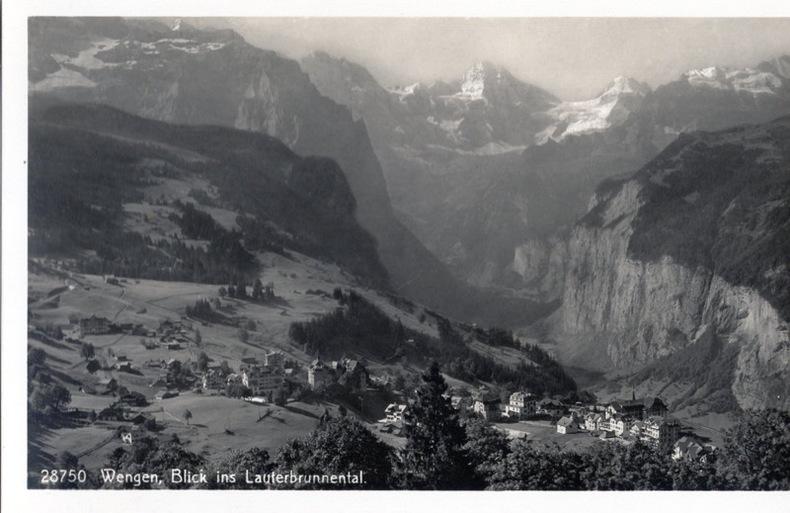 WENGEN , blick ins Lauterbrunnental, . Suisse