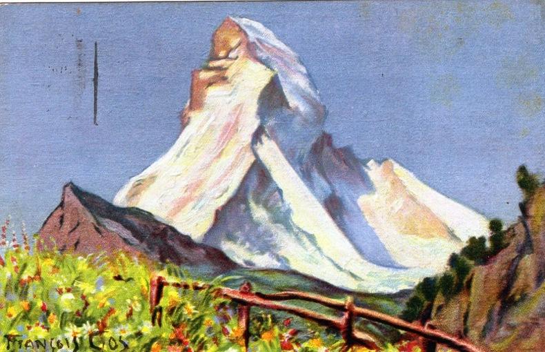Matterhorn, see from Zermatt,. Suisse